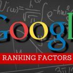 fattori di ranking google 2017