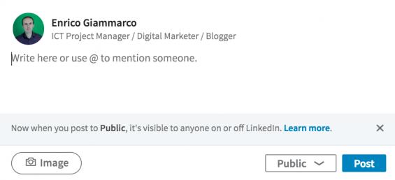 LinkedIn Post pubblici