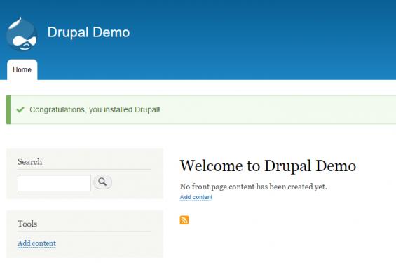 drupal installazione ok