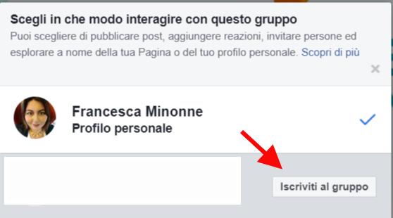 iscrivere pagine a gruppi facebook dettaglio