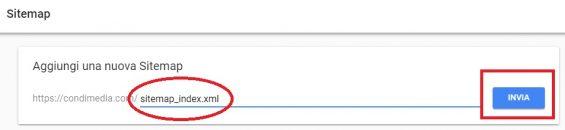 google search console invio sitemap