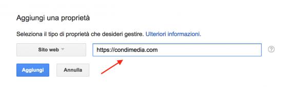google search console aggiungere una nuova proprietà