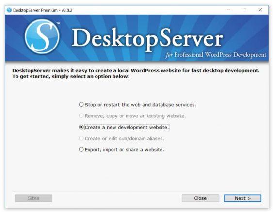 desktopserver nuovo sito sviluppo