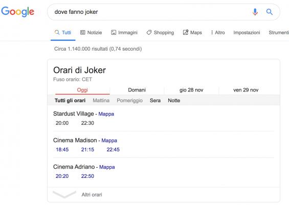 google risposta esatta
