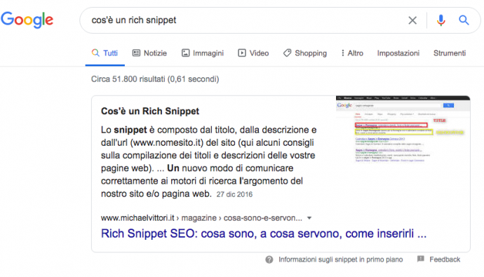 paragrafo featured snippet
